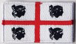 Sardinia Embroidered Flag Patch, style 04